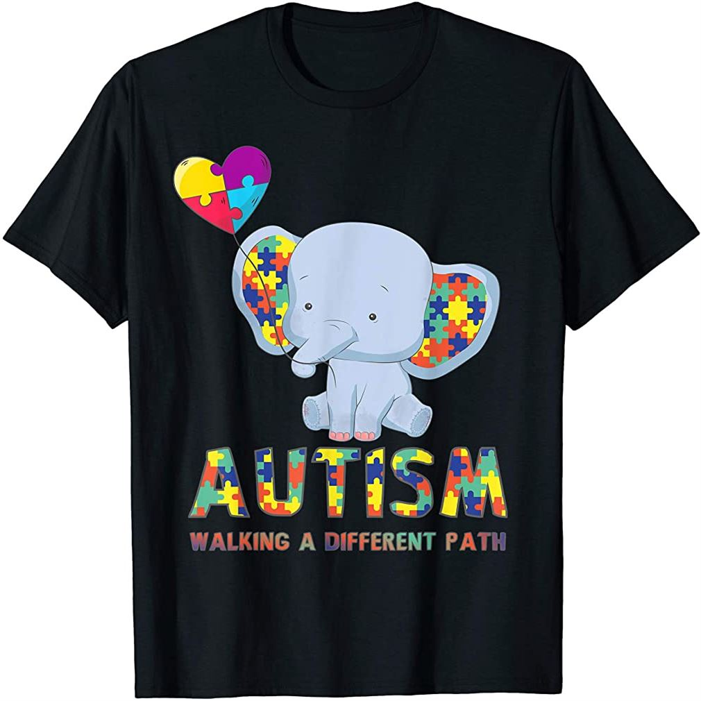 Autism Elephant Walking A Different Path T Shirt For Kids Size Up To 5xl