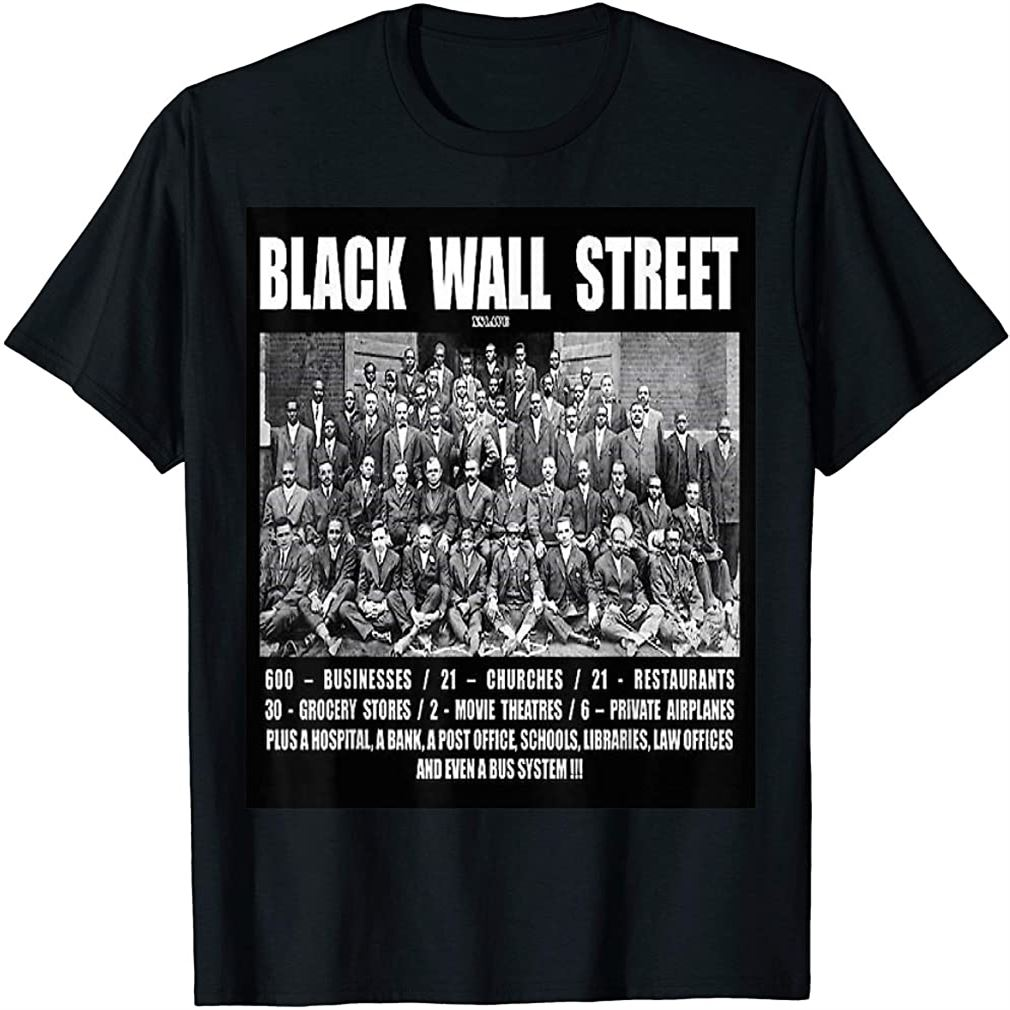 Black Wall Street T Shirt Z T-shirt Size Up To 5xl