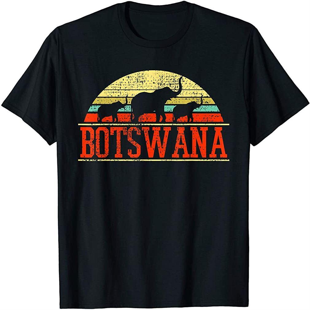 Botswana Safari Elephant Vintage T-shirt Size Up To 5xl