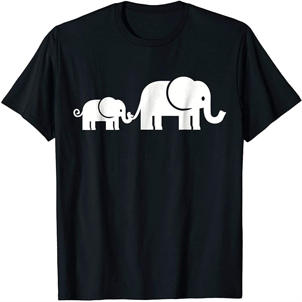 Elephant Family T-shirt Plus Size Up To 5xl