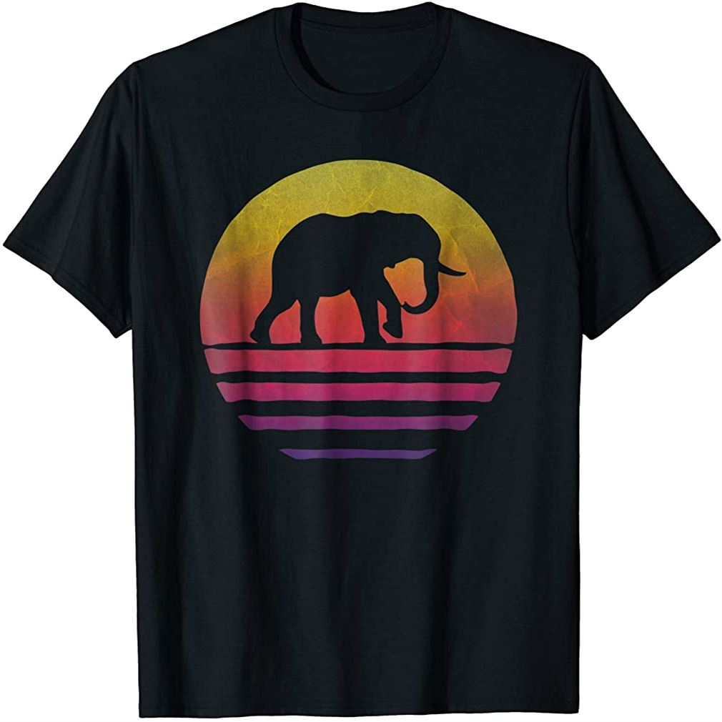 Elephant Shirt Retro Vintage 70s Boho Distressed Women Men Plus Size Up To 5xl