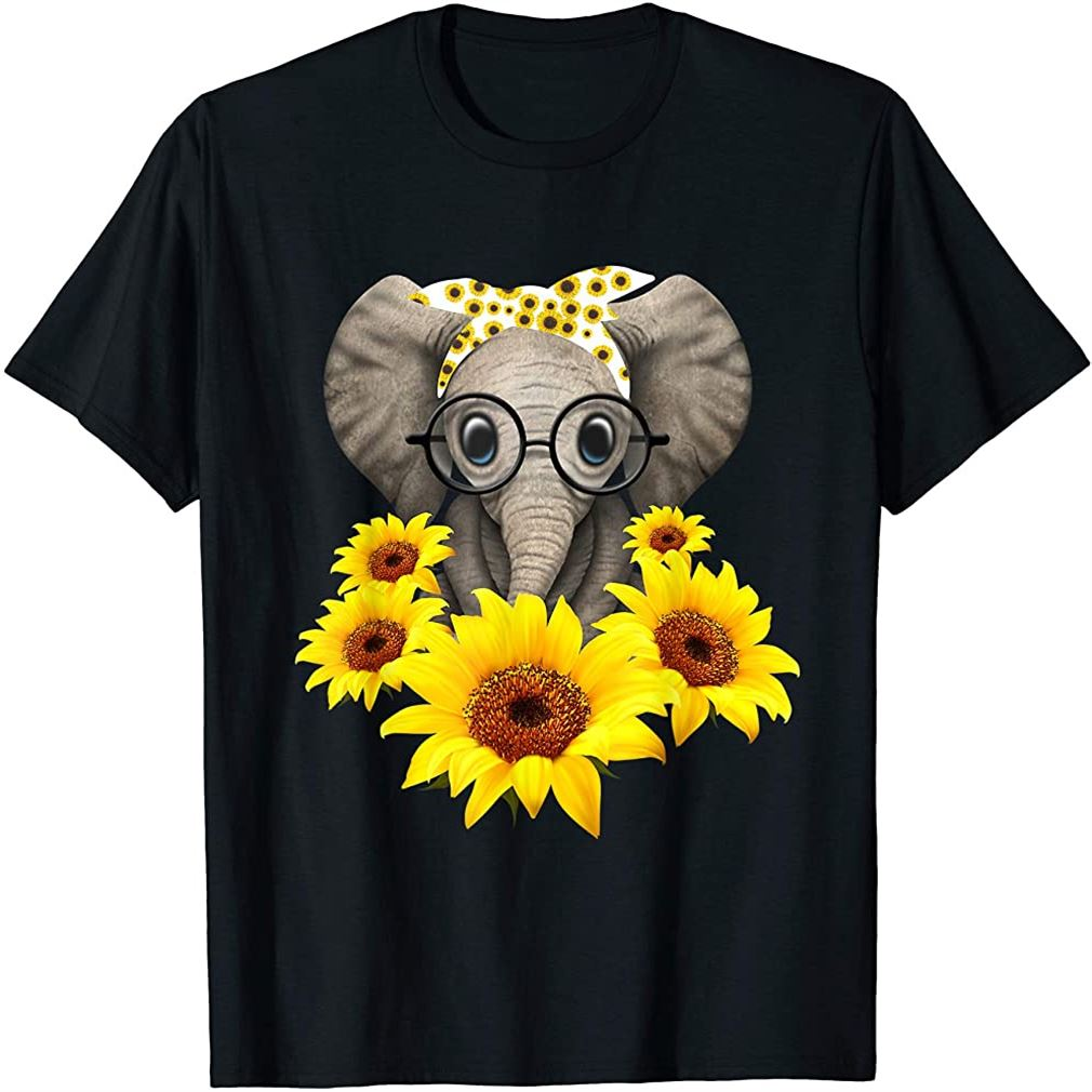 Elephant Sunflower Cute Elephant Love Sunflower T-shirt Size Up To 5xl