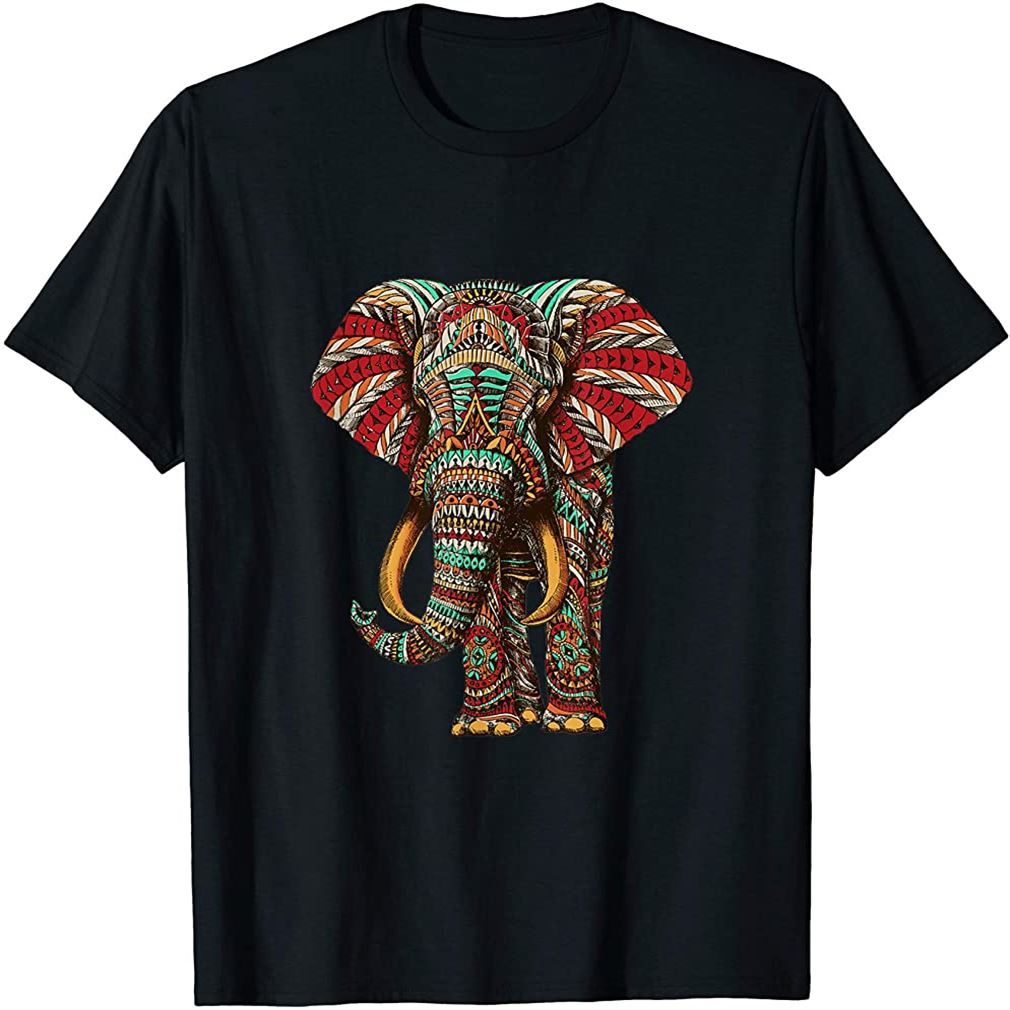 Henna Stylish Artistic Save The Elephants Wildlife T-shirt Size Up To 5xl
