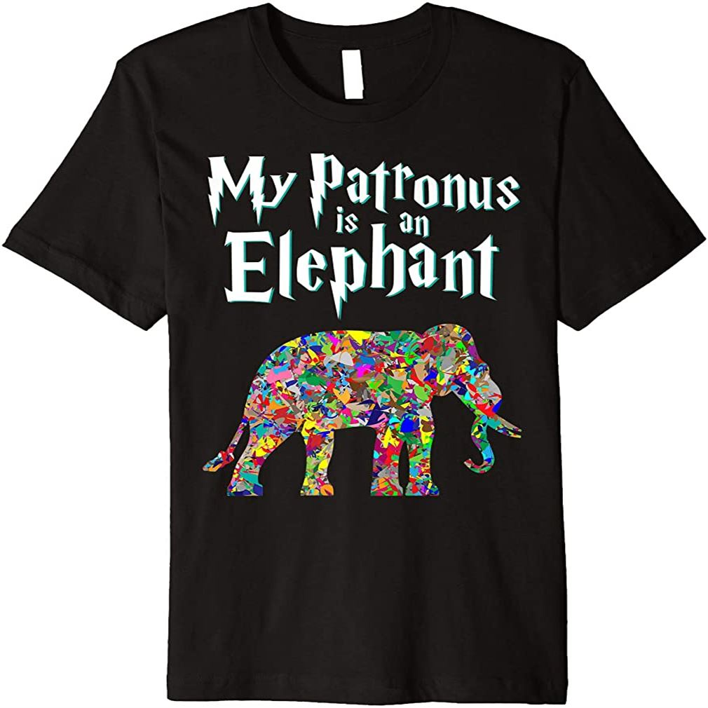 My Patronus Is A Elephant Cute Special Harry Fan Gift Premium T-shirt Size Up To 5xl