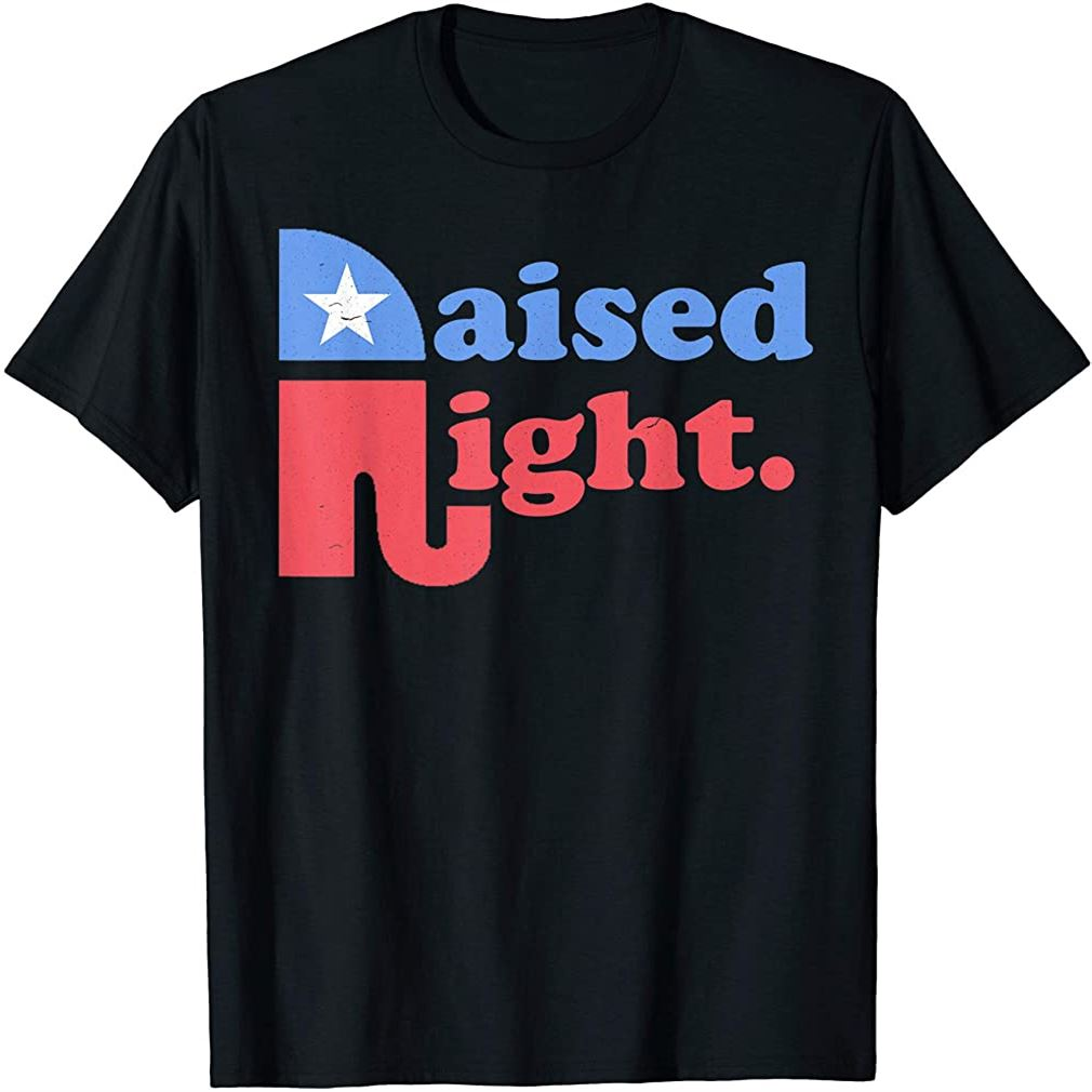 Raised Right Republican Elephant Retro Style Distressed Gift T-shirt Size Up To 5xl