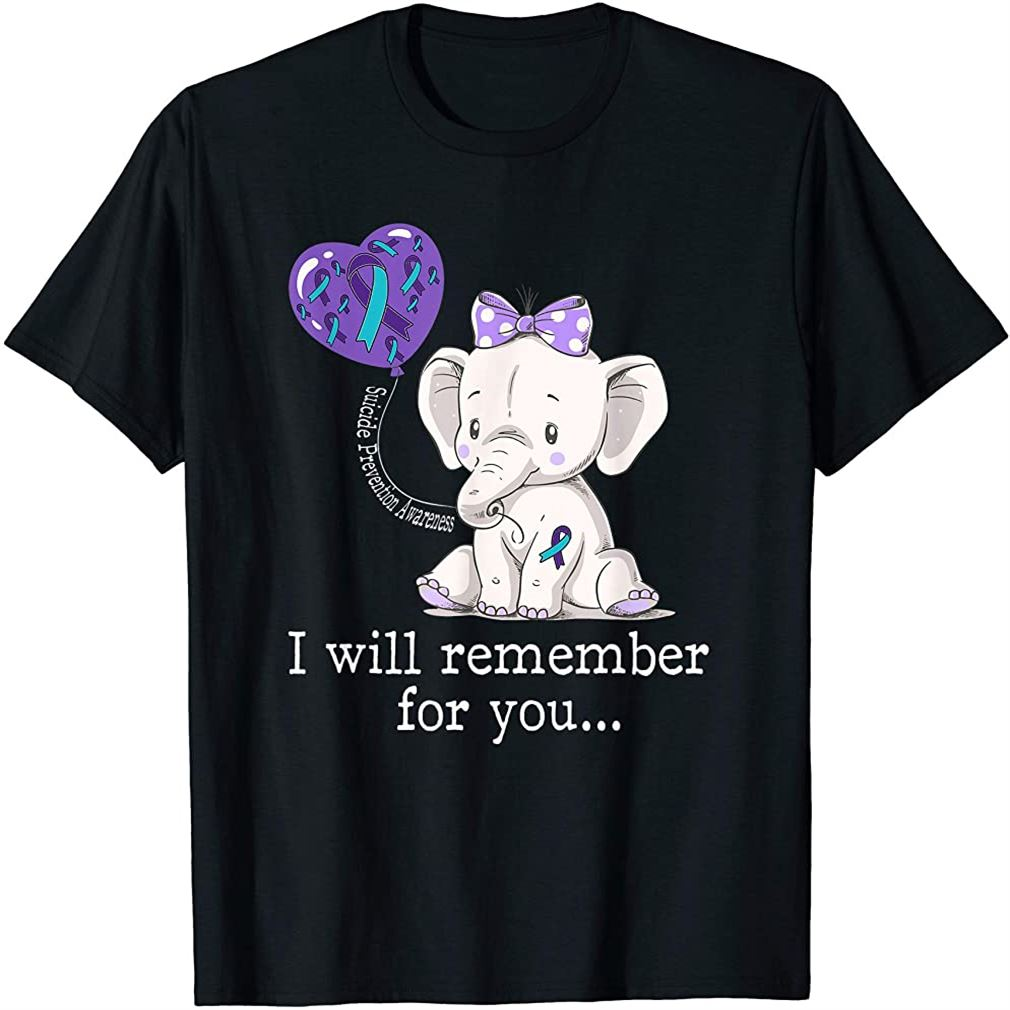 Suicide Prevention Awareness Elephant T-shirt Size Up To 5xl