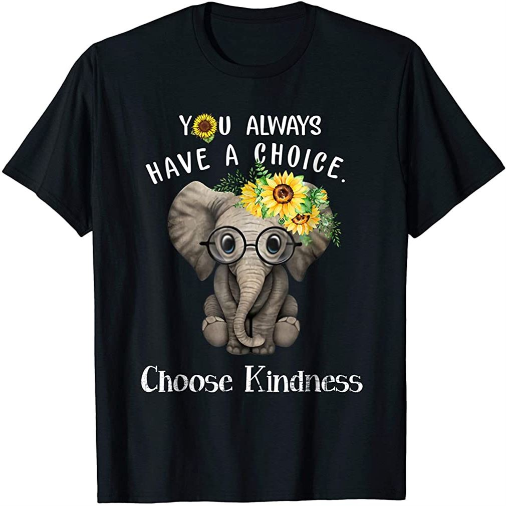 You Always Have A Choice Choose Kindness Elephant Shirt Size Up To 5xl