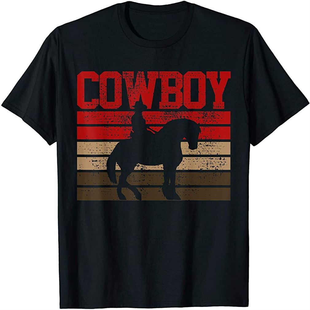 Cowboy Rodeo Horse Gift Country T-shirt Size Up To 5xl