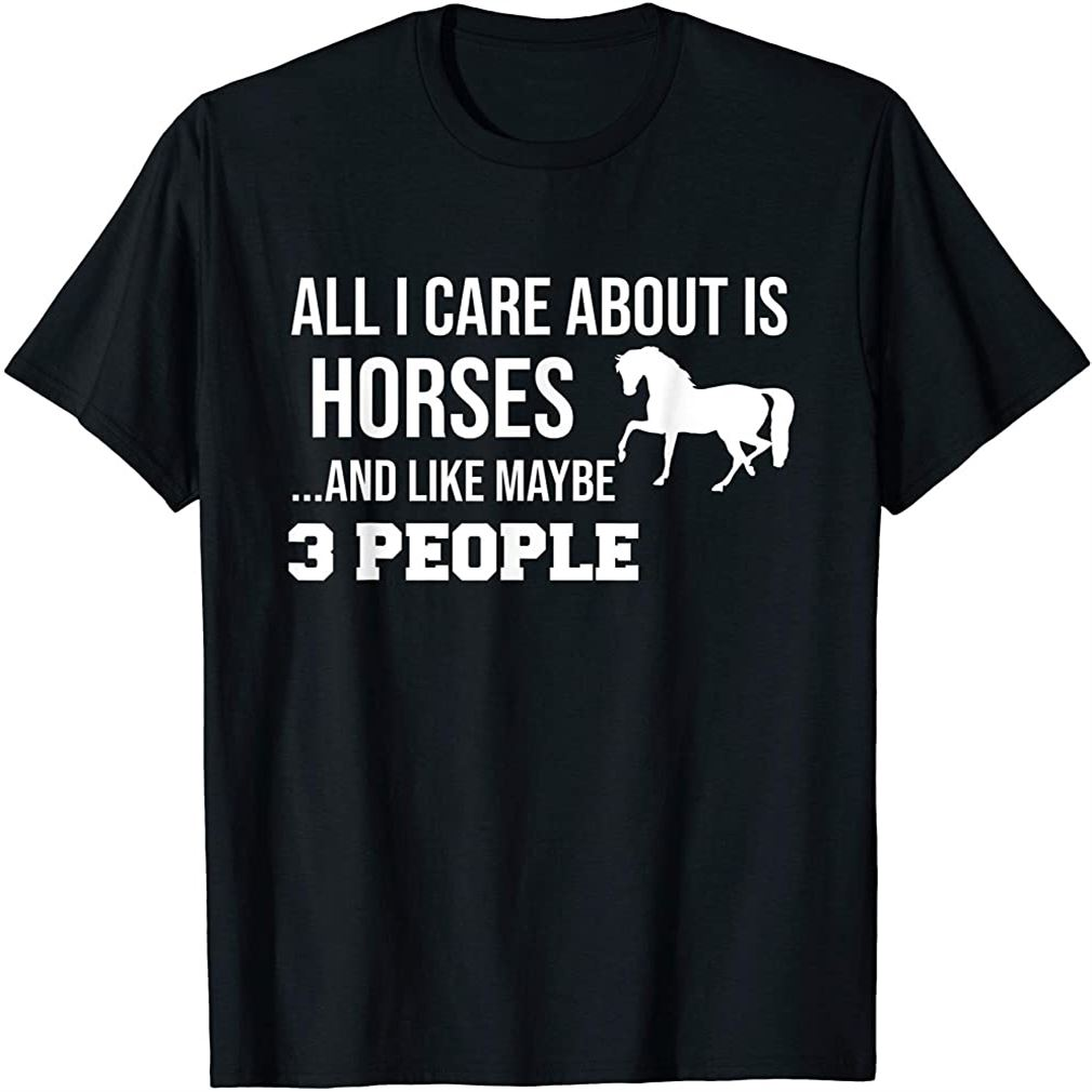 Funny Cute Horse Shirt Gift Men Women Teens Size Up To 5xl