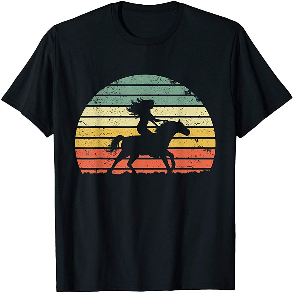 Girl Horse Riding Shirt Vintage Cowgirl Texas Ranch T-shirt Plus Size Up To 5xl