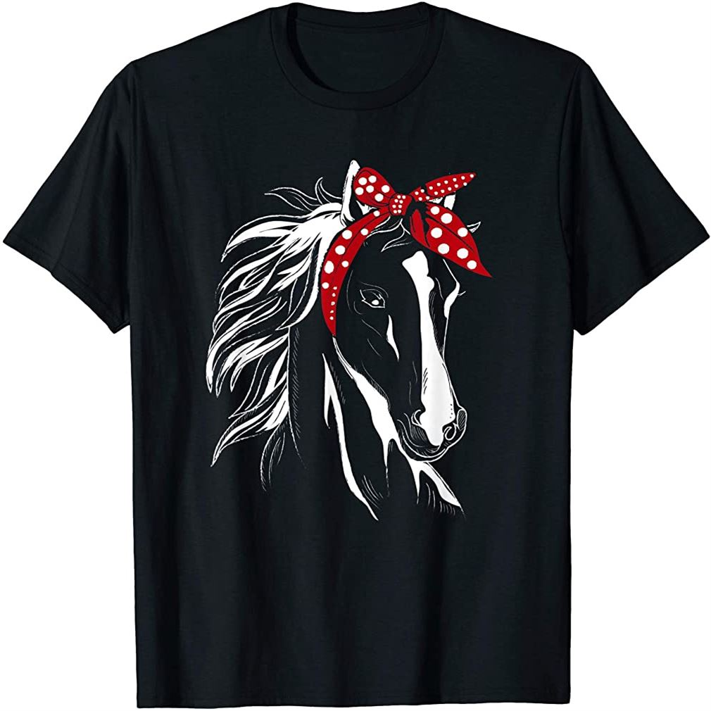 Horse Bandana For Horseback Riding Horse Lover T-shirt Plus Size Up To 5xl
