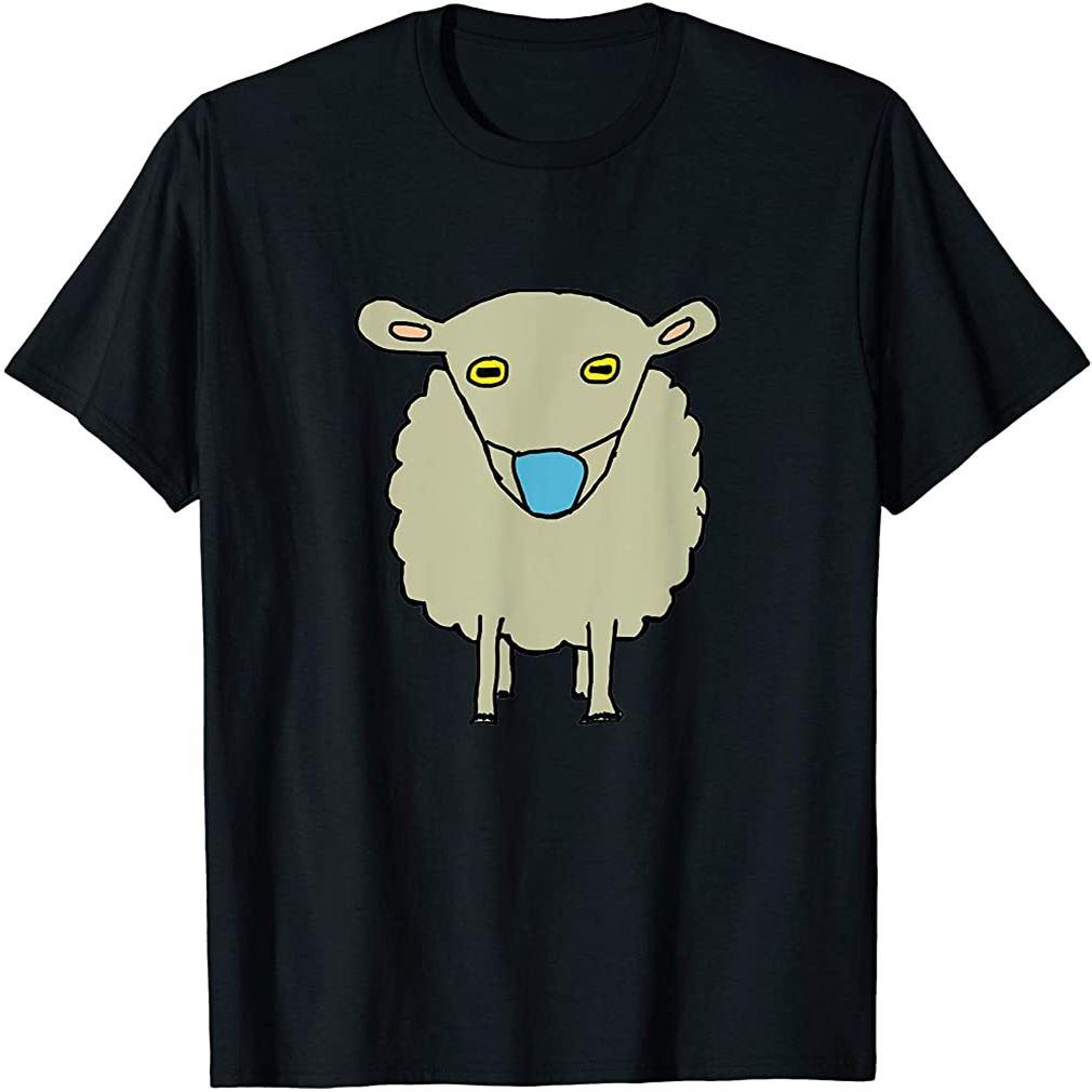 Anti-mask Mask-wearing Sheep T-shirt Size Up To 5xl