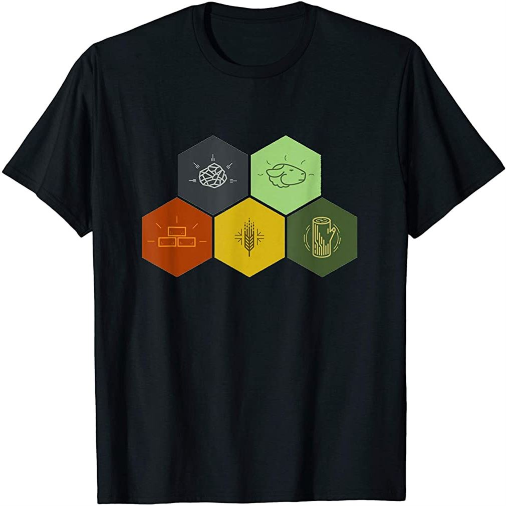 Brick Wood Rock Wheat Sheep T-shirt Board Game Geek Plus Size Up To 5xl