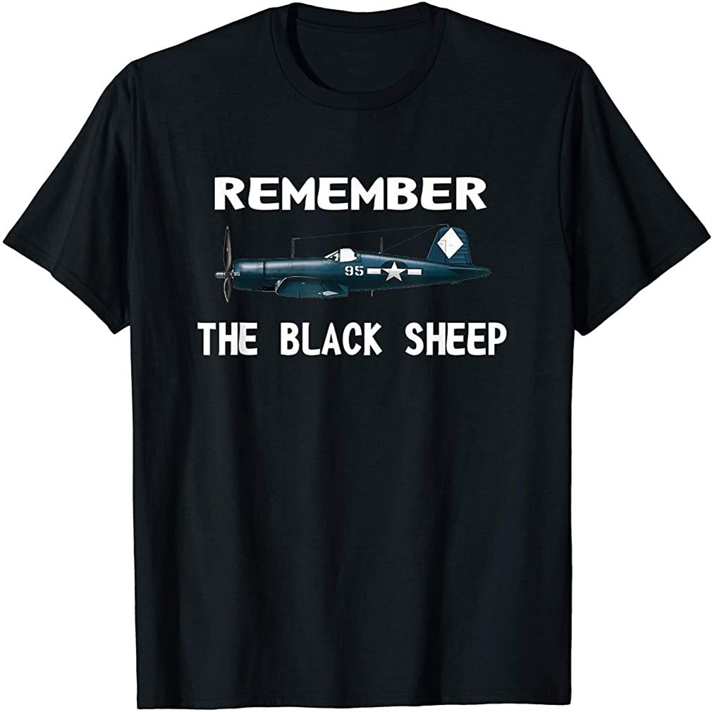 Corsair Wwii History Shirt Black Sheep Squadron Pilot Tee T-shirt Size Up To 5xl