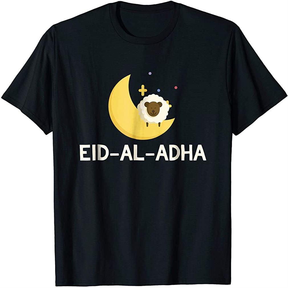 Eid Al-adha Sheep On Moon Funny Eid Mubarak Feast T-shirt Size Up To 5xl