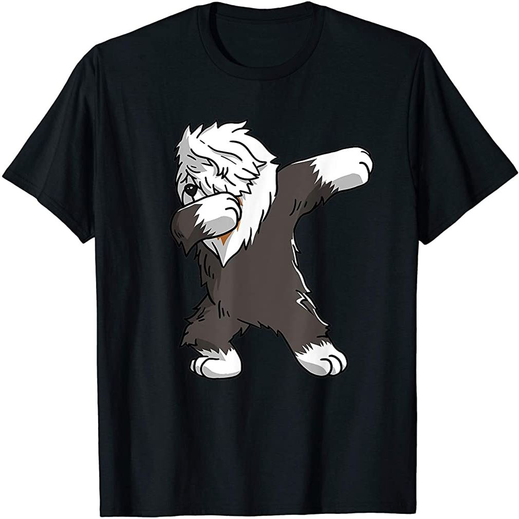 Funny Dabbing Old English Sheepdog Party Birthday Gift T-shirt Size Up To 5xl