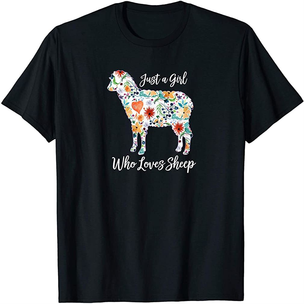 Just A Girl Who Loves Sheep Cute Funny Design For Women Gift T-shirt Plus Size Up To 5xl