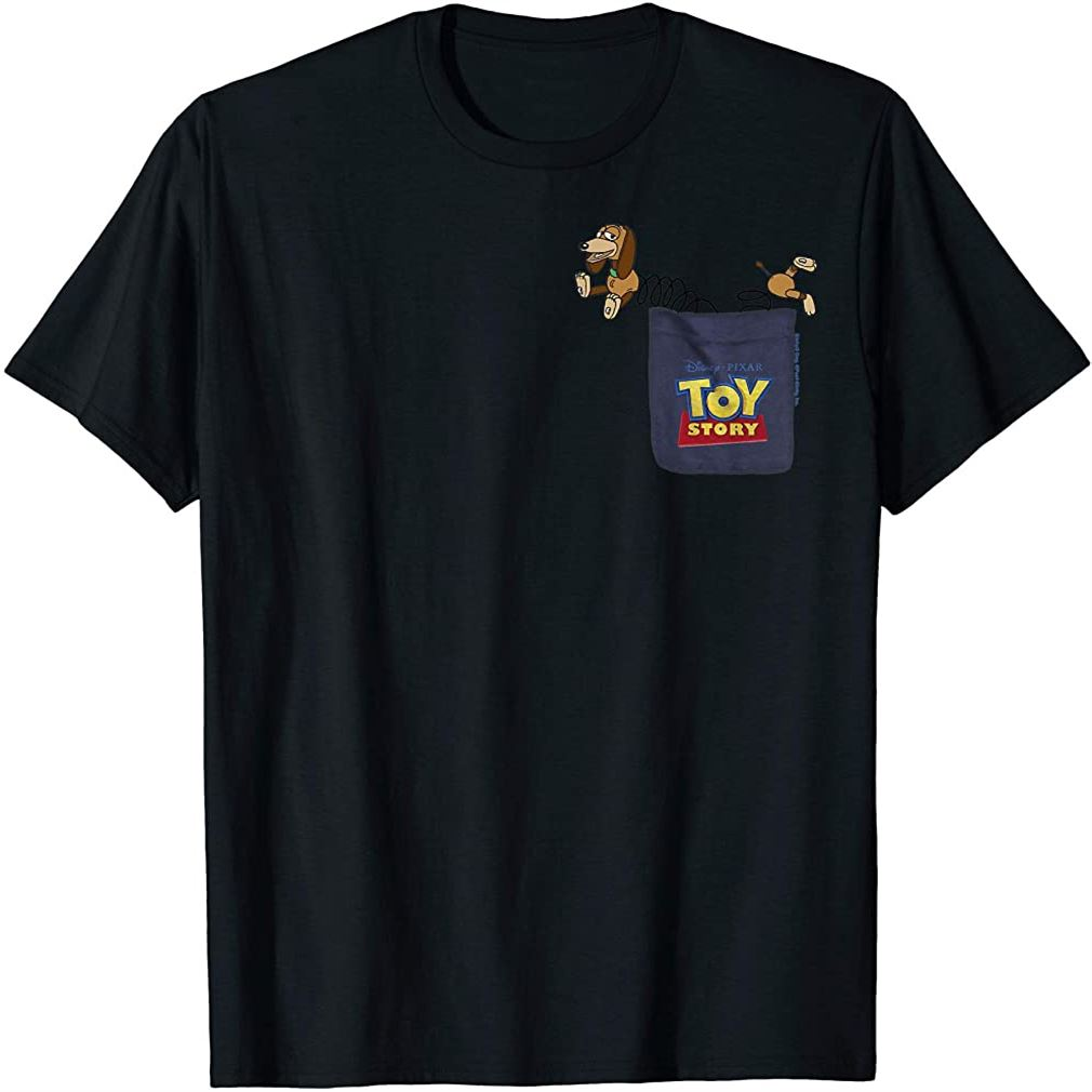 Pixar Toy Story Slinky Dog Pocket Graphic T-shirt T-shirt Size Up To 5xl