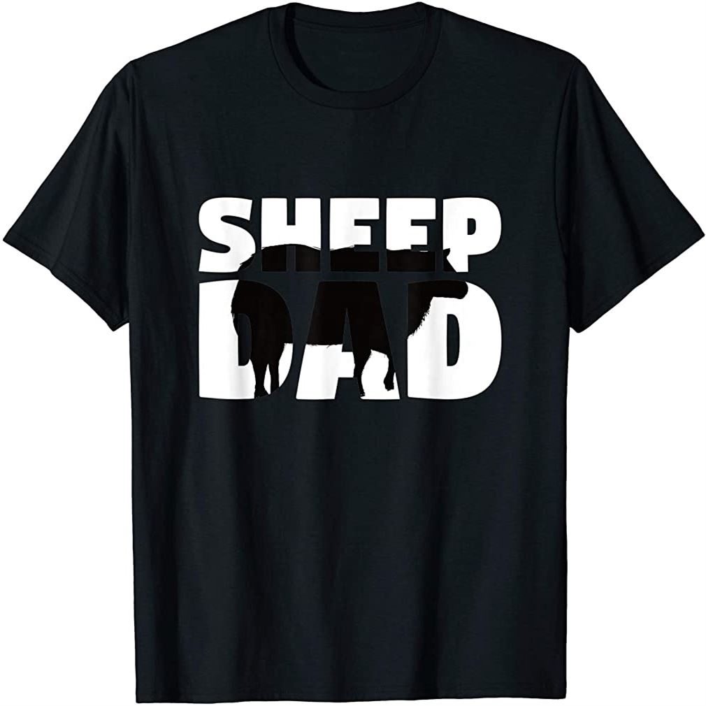 Sheep Dad T-shirt Sheep Lover Gift For Father Zoo Animal Tee Plus Size Up To 5xl