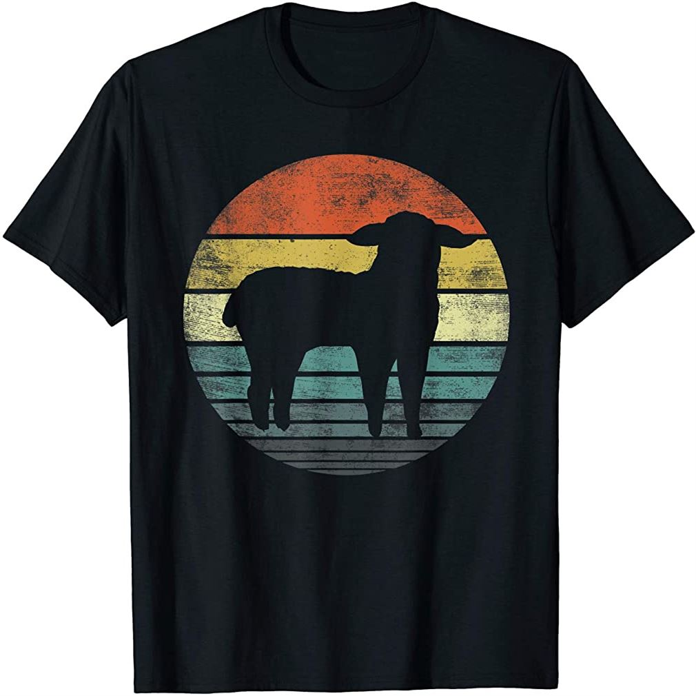 Sheep Lover Gifts Funny Farmer Retro Vintage Farm Animals T-shirt Plus Size Up To 5xl