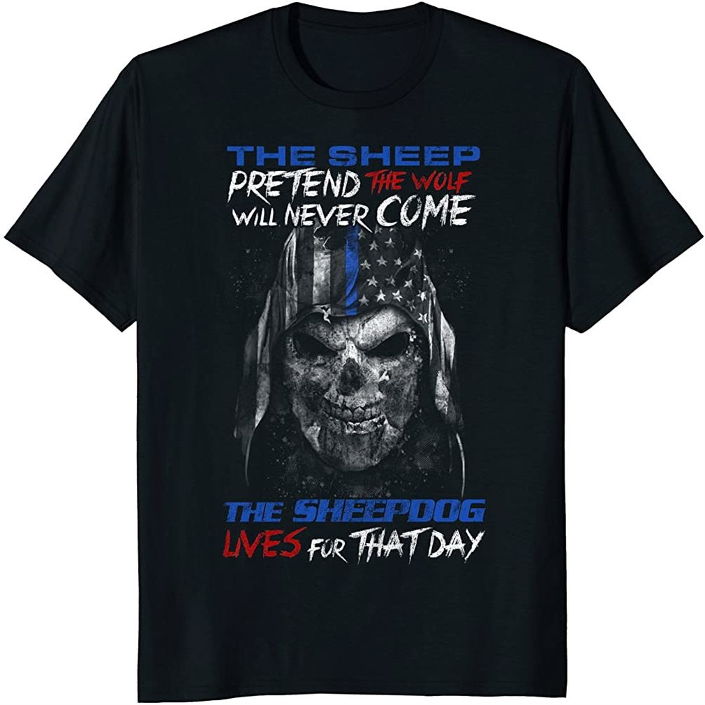 Thin Blue Line Sheepdog T-shirt Size Up To 5xl
