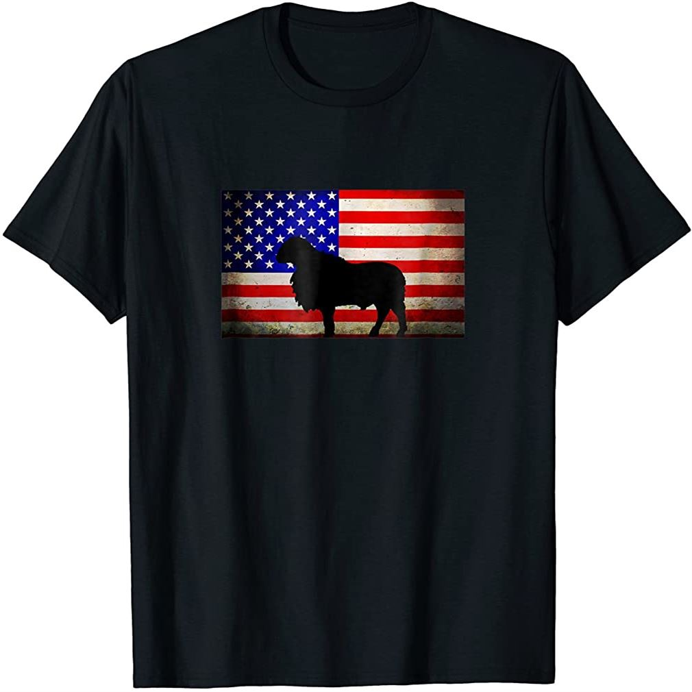 Usa Flag Katahdin Sheep Size Up To 5xl
