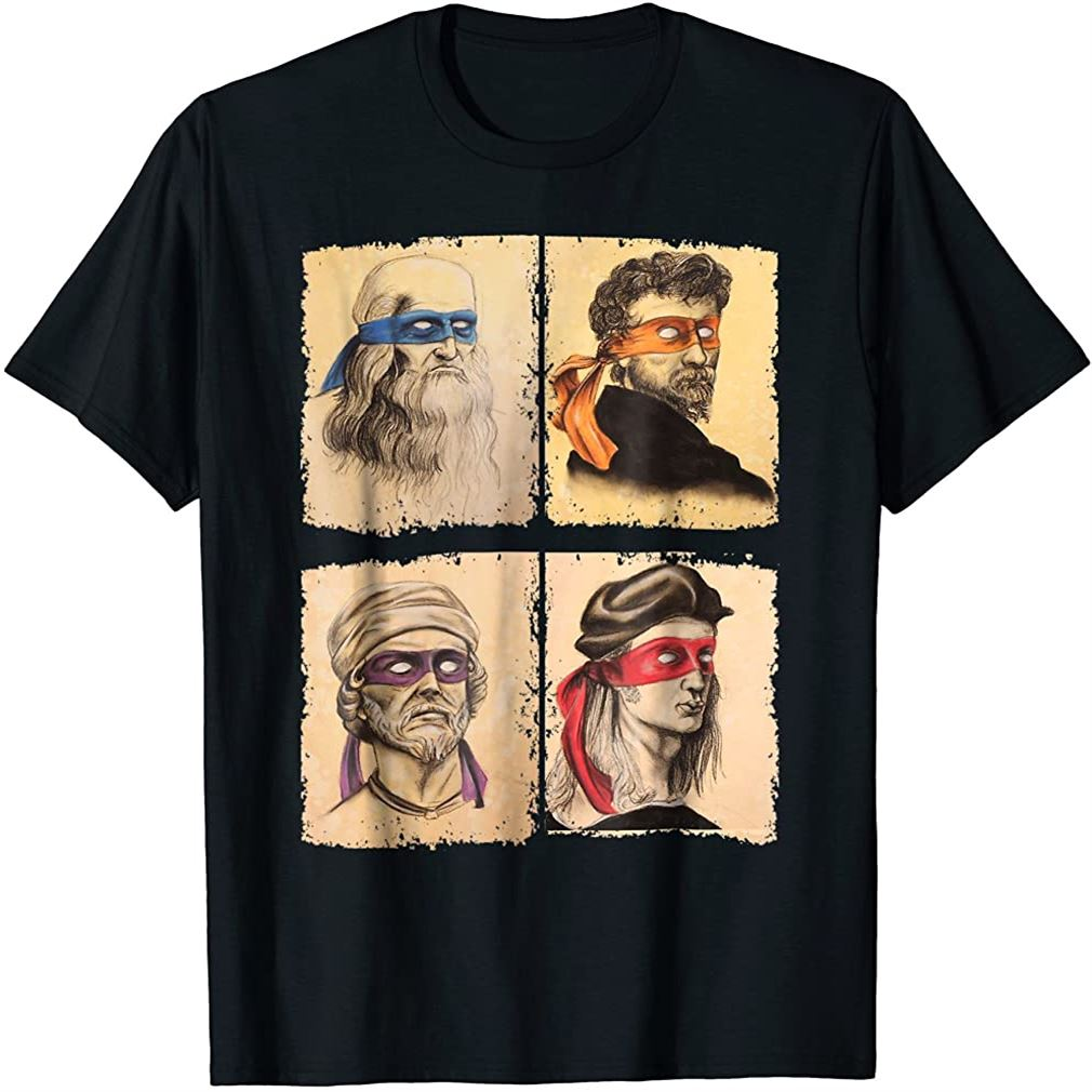 Humor Italian Artists T Shirt For Turtles Art Lovers Size Up To 5xl
