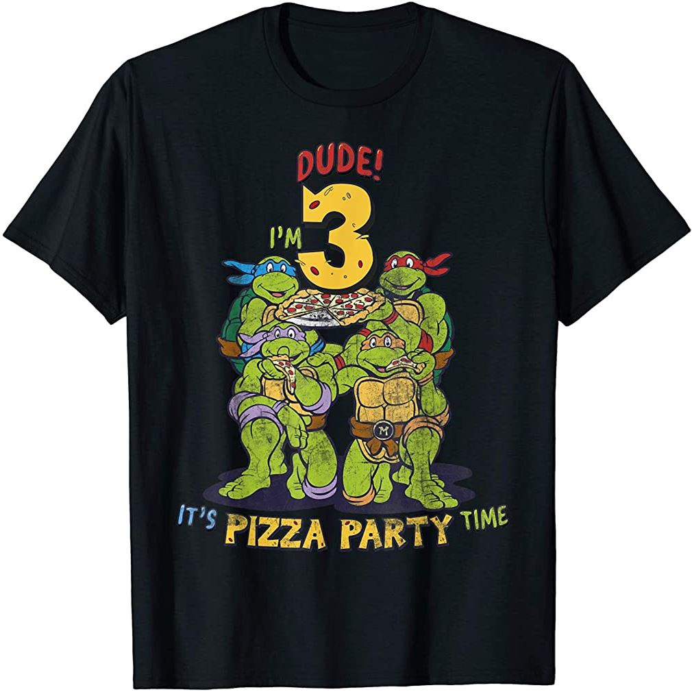 Im 3 Dude Pizza Birthday Party T-shirt Size Up To 5xl