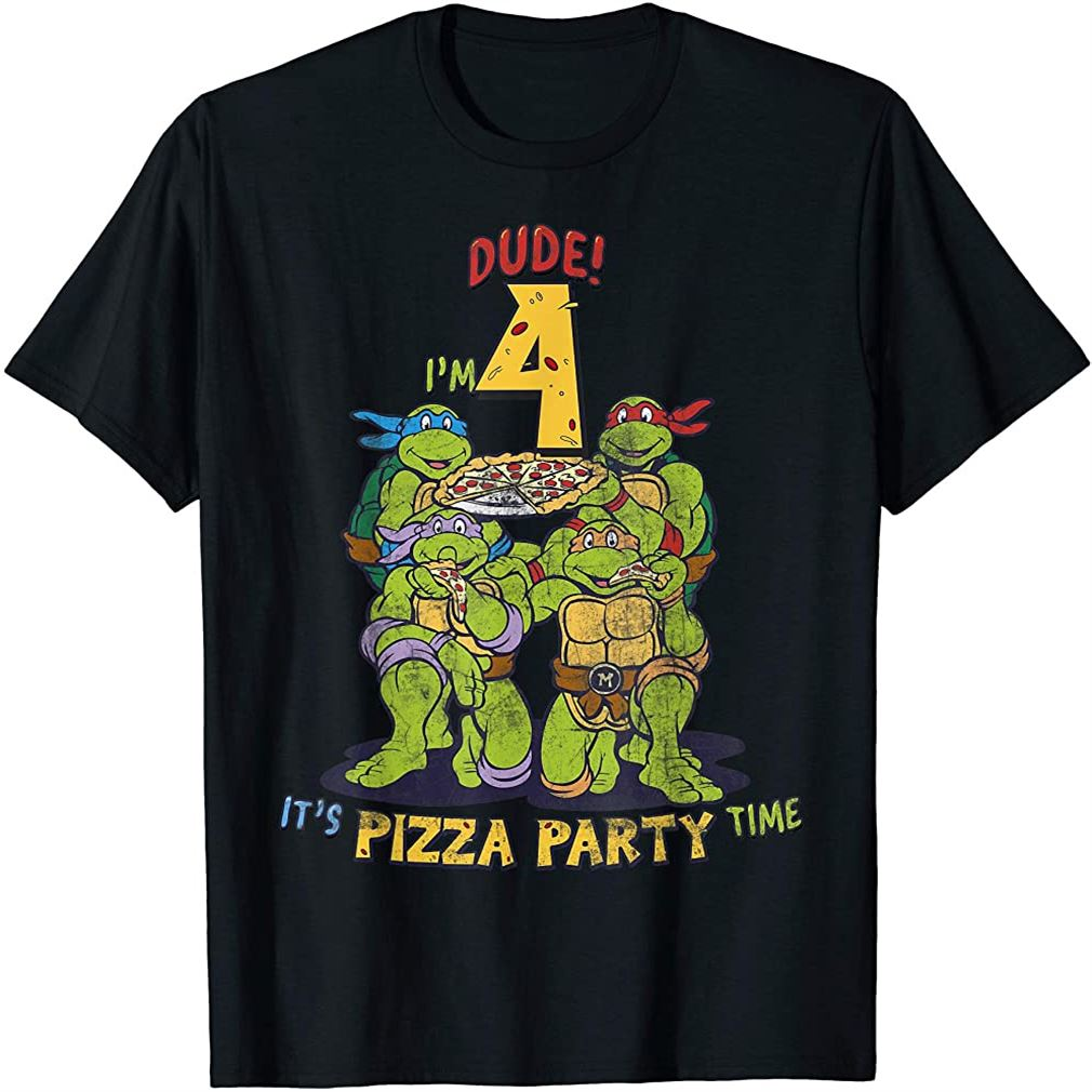 Im 4 Dude Pizza Birthday Party T-shirt Size Up To 5xl