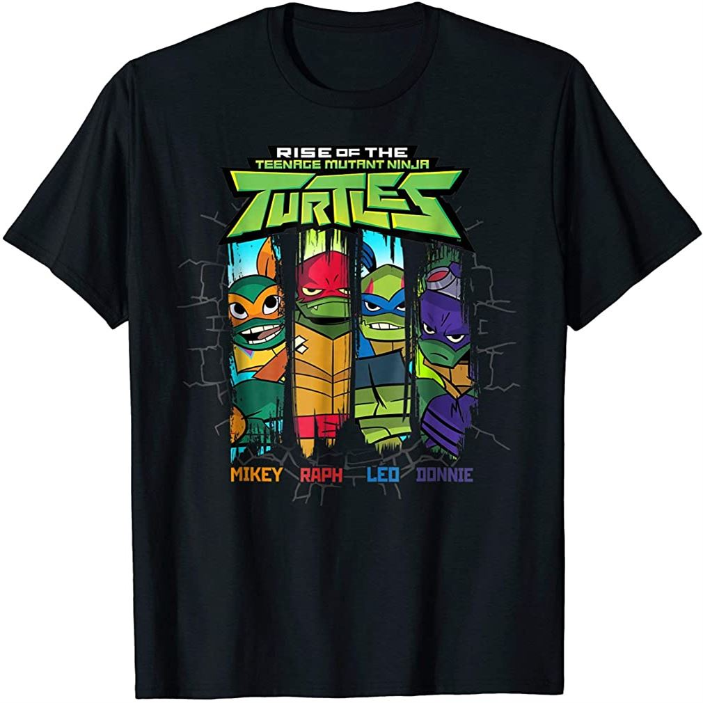 Rise Of The Teenage Mutant Ninja Turtle 4 Squad T-shirt Size Up To 5xl