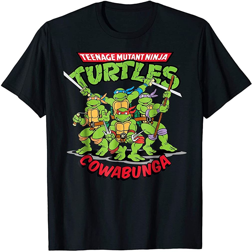 Rise Of The Teenage Mutant Ninja Turtle Cowabunga T-shirt Size Up To 5xl