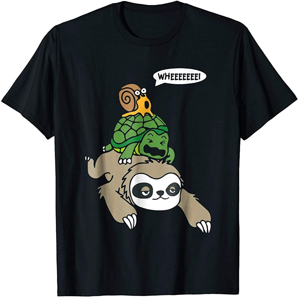 Sloth Turtle Snail Funny T Shirt Cute Animal Lover Gift Tee Size Up To 5xl