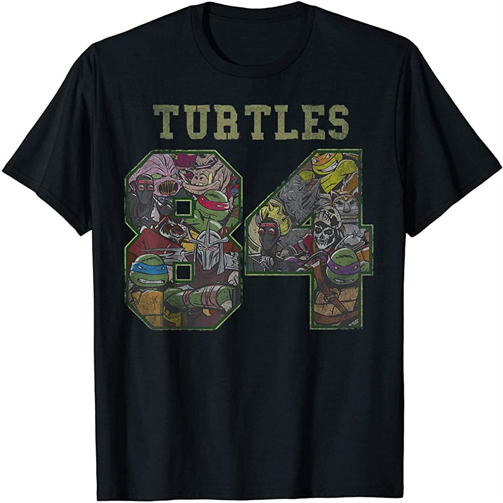 Teenage Mutant Ninja Turtles 1984 Jersey Style T-shirt Size Up To 5xl