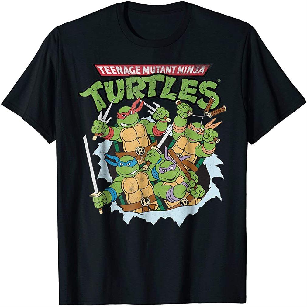 Teenage Mutant Ninja Turtles Break Through T-shirt Plus Size Up To 5xl