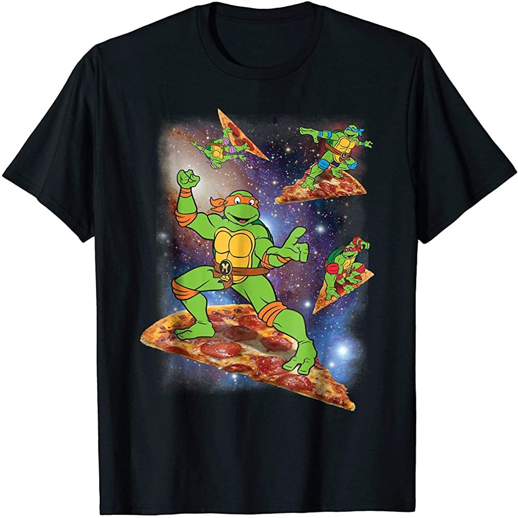 Teenage Mutant Ninja Turtles Cosmic Pizza Surfing T-shirt Plus Size Up To 5xl