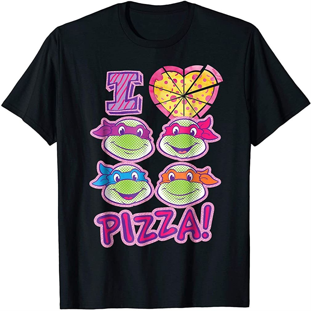 Teenage Mutant Ninja Turtles I Love Pizza T-shirt Size Up To 5xl
