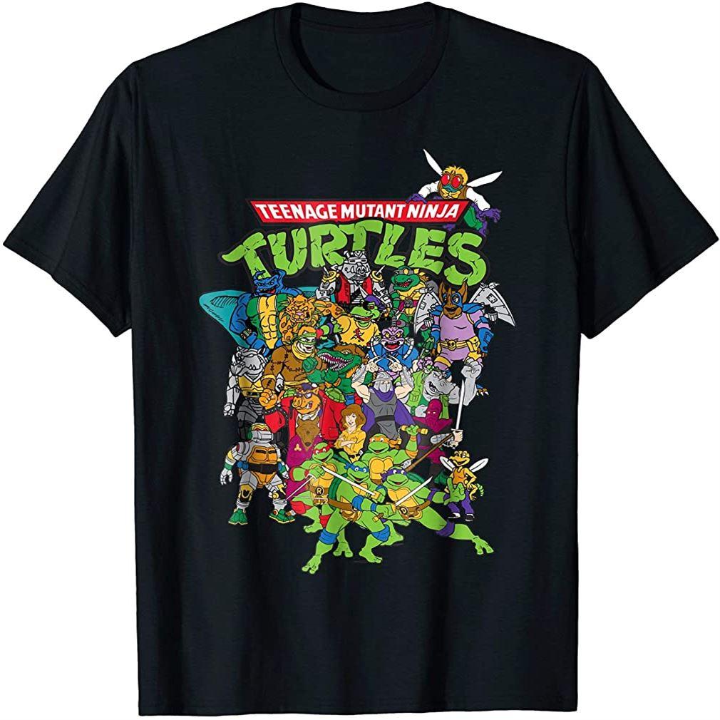 Teenage Mutant Ninja Turtles Large Character Group T-shirt Plus Size Up To 5xl