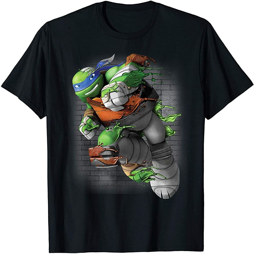 Teenage Mutant Ninja Turtles Leonardo Liquid Green T-shirt Plus Size Up To 5xl
