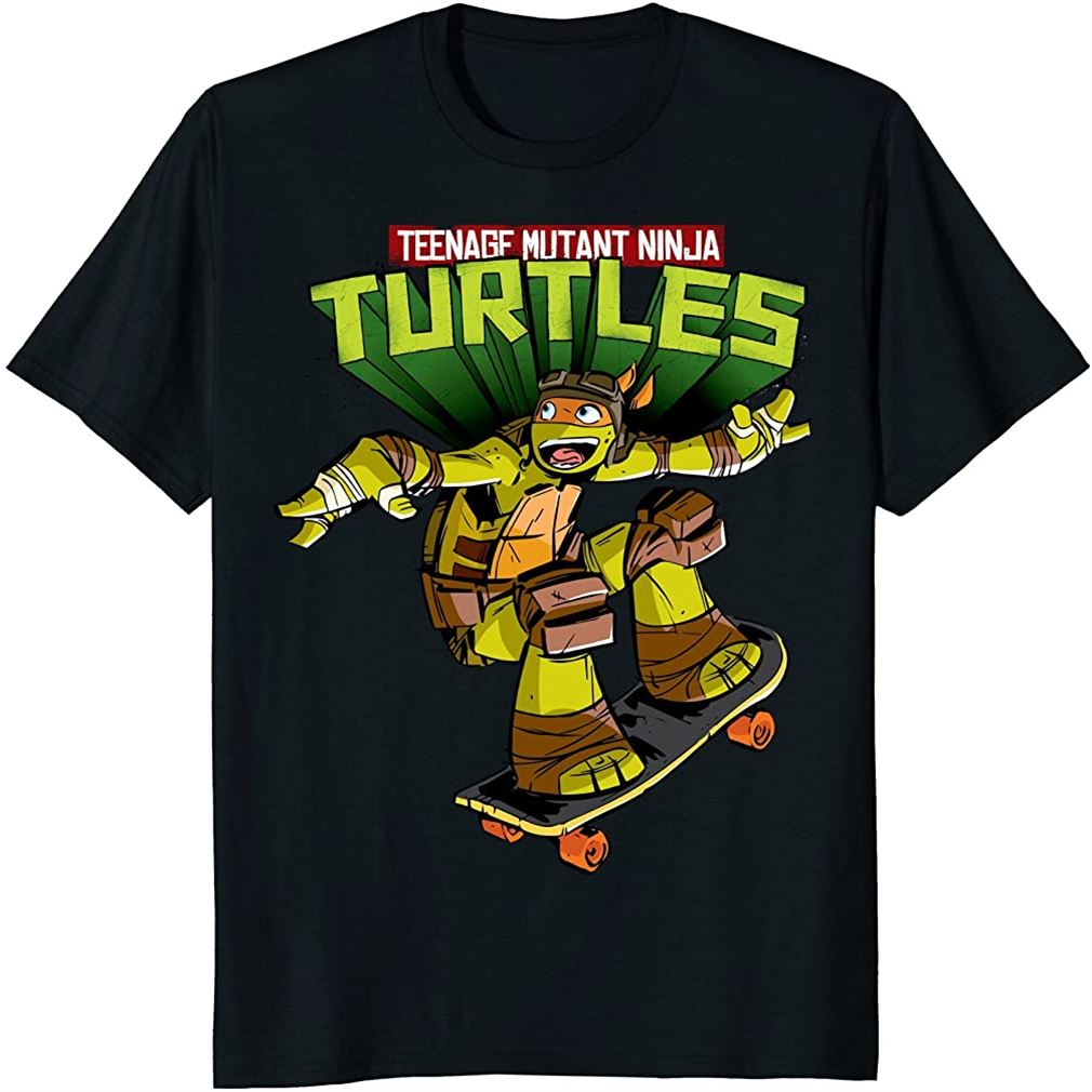 Teenage Mutant Ninja Turtles Michelangelo Skateboard T-shirt Size Up To 5xl