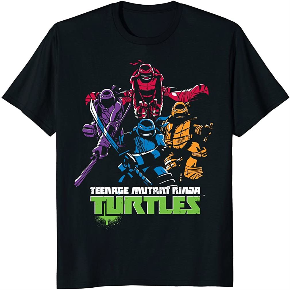 Teenage Mutant Ninja Turtles Minimal Attack Design T-shirt Size Up To 5xl