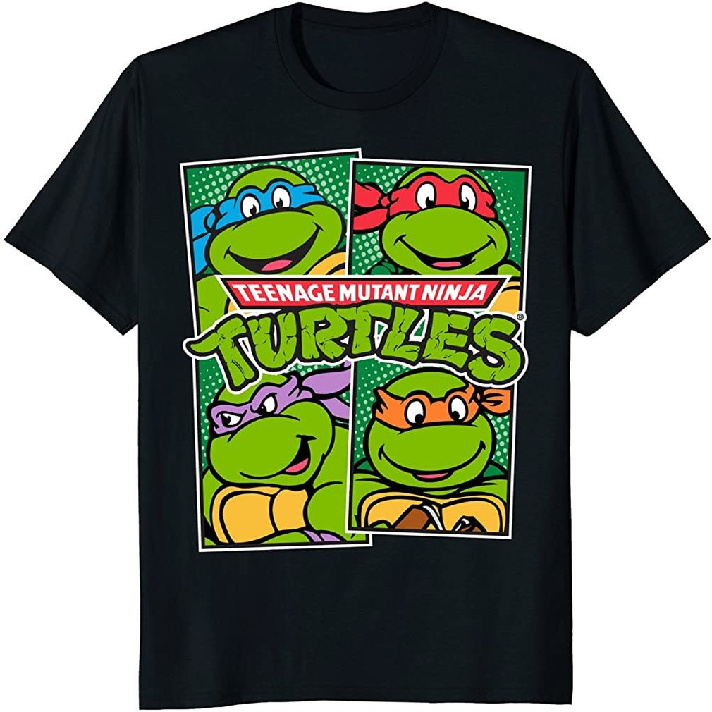 Teenage Mutant Ninja Turtles Paneled Characters T-shirt Plus Size Up To 5xl