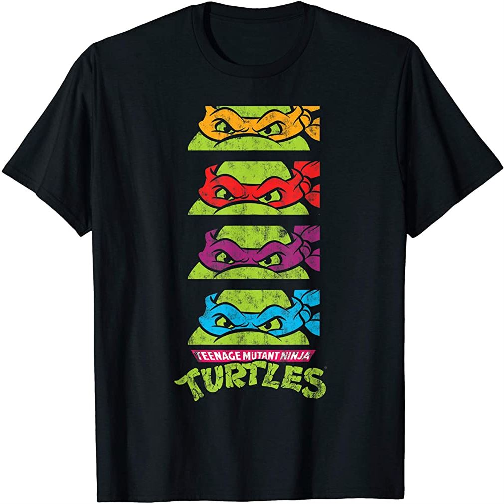 Teenage Mutant Ninja Turtles Paneled Faces T-shirt Plus Size Up To 5xl