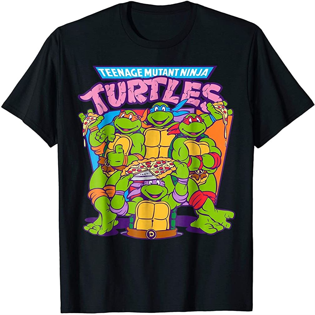 Teenage Mutant Ninja Turtles Pizza Smiles T-shirt Plus Size Up To 5xl
