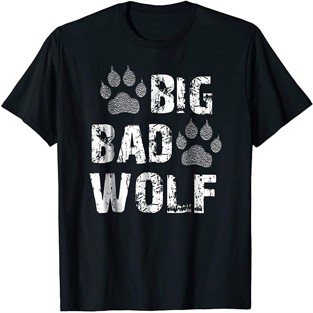 Big Bad Wolf Tshirt Size Up To 5xl
