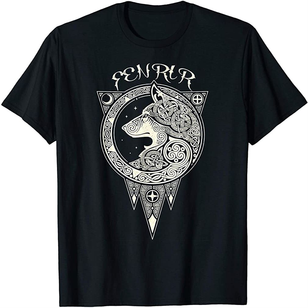 Fenrir Wolf Of Odin Norse Nordic Mythology - Vikings Tatoos T-shirt Size Up To 5xl
