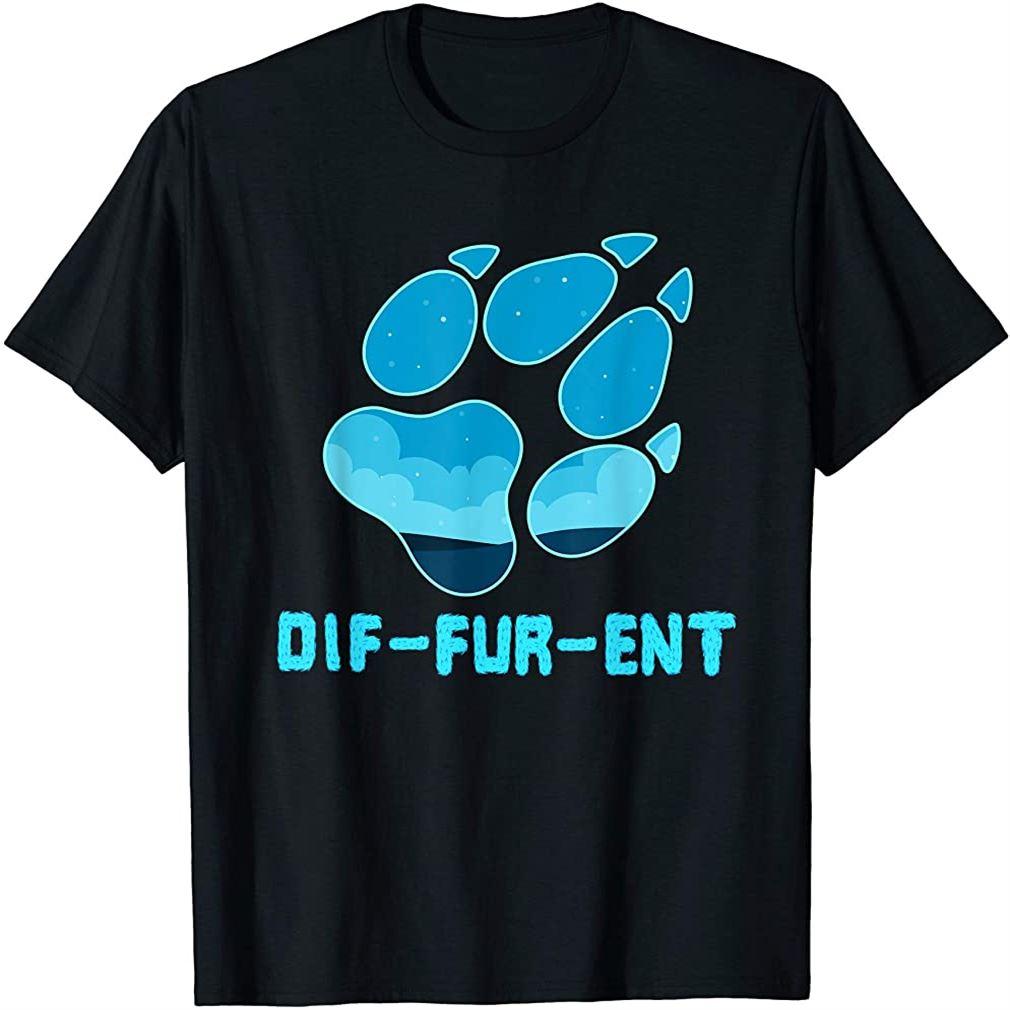Furry Shirt - Diffurent Wolf Dog Paw T-shirt T-shirt Size Up To 5xl