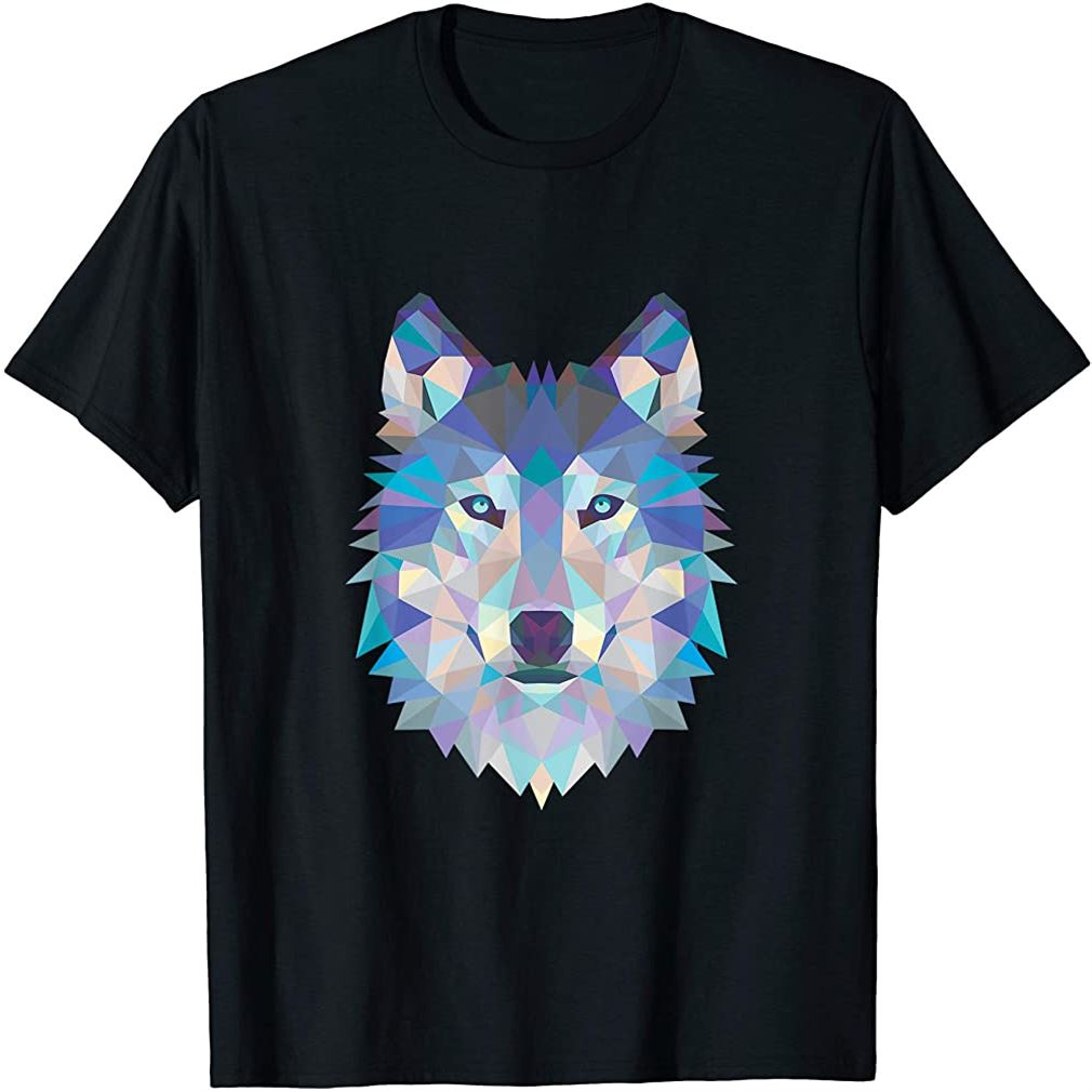 Geometric Wolf Tee Size Up To 5xl