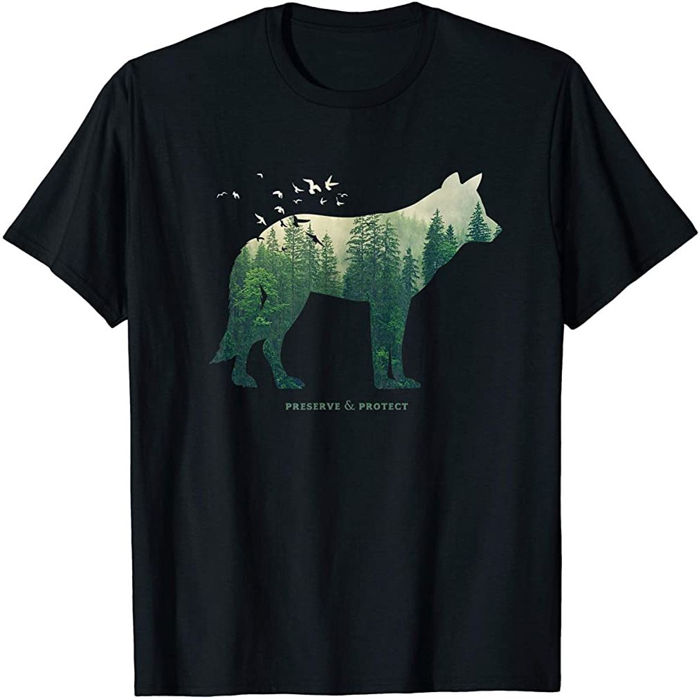 Preserve Protect T-shirt Vintage National Park Wolf Gift T-shirt Plus Size Up To 5xl
