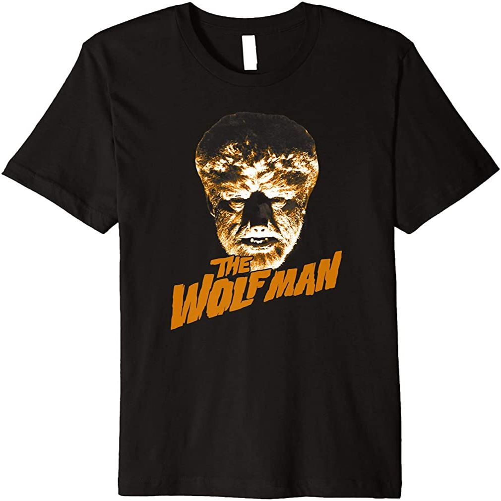 The Wolf Man Dark Portrait Premium T-shirt Plus Size Up To 5xl
