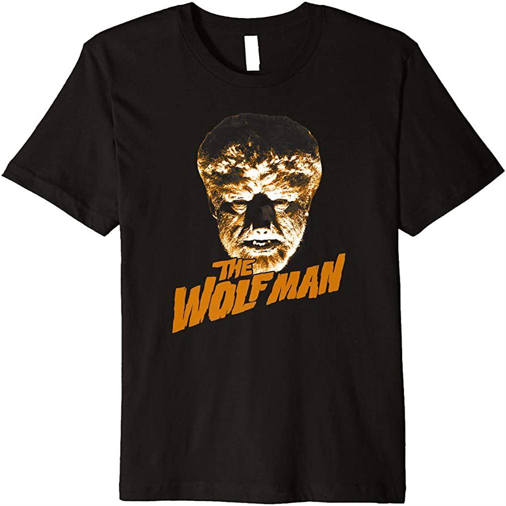 The Wolf Man Dark Portrait Premium T-shirt Plus Size Up To 5xl